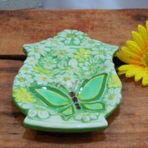 Vintage Retro Kitchen Spoon Rest Butterfly Daisy
